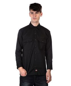 Dickies   Рубашка Long Sleeve Work Shirt Black