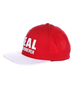 Real | Бейсболка Genuine Snapback Red/White