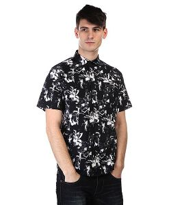 Huf | Рубашка Floral S/S Woven Black Floral