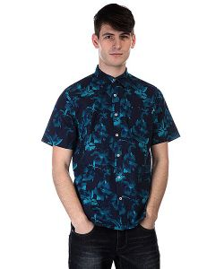 Huf | Рубашка Floral S/S Woven Navy Floral