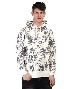 Huf | Кенгуру Floral Pullover Hood White Floral