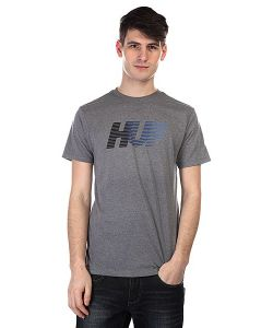 Huf | Футболка 10k Gradient Tee Grey Heather