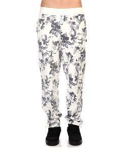 Huf   Штаны Прямые Floral Sweatpant White Floral