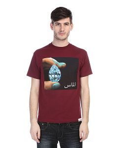 Diamond | Футболка Arabic Shining Tee Burgundy