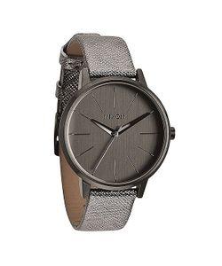 Nixon | Часы Женские Kensington Leather Gunmetal Shimmer