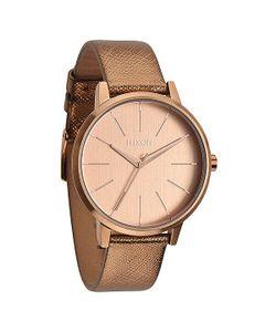 Nixon | Часы Женские Kensington Leather Rose Gold Shimmer