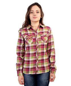 Marmot | Рубашка В Клетку Женская Wms Bridget Flannel Ls Berry Rose
