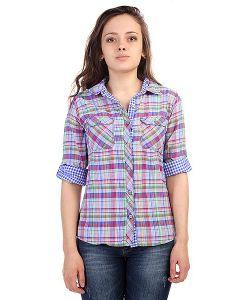 Marmot | Рубашка В Клетку Женская Wms Marissa Ls Astral Blue