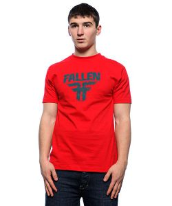 Fallen | Футболка Frayed Red/Ink Подарок