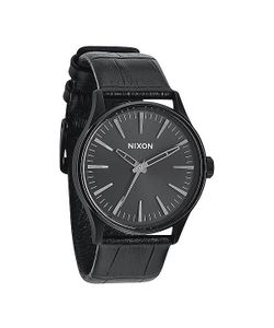 Nixon | Часы Sentry 38 Leather Black Gator