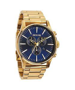 Nixon | Часы Sentry Chrono Gold/Blue Sunray