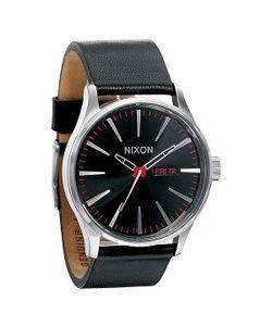 Nixon | Часы Sentry Leather Black