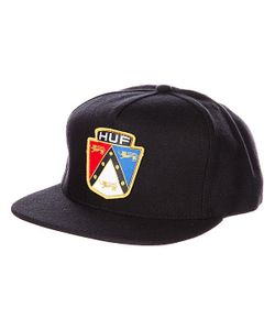Huf | Бейсболка Badge Snapback Black