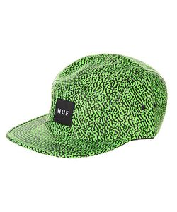 Huf | Бейсболка Пятипанелька Memphis Box Logo Volley Lime