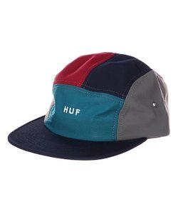 Huf | Бейсболка Пятипанелька Lo-Down Navy/Teal/Wine