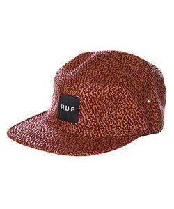 Huf | Бейсболка Пятипанелька Memphis Box Logo Volley Wine