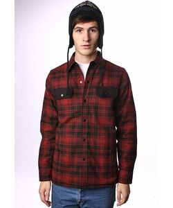Independent | Куртка Grant Overshirt Red/Black Plaid