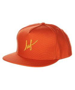 Huf | Бейсболка Bto Script Duck Snapback Burnt Orange