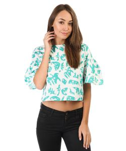 The WhitePepper | Топ The Pepper Button Back Ruffle Sleeve Top