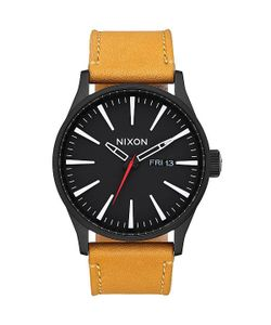 Nixon | Кварцевые Часы Sentry Leather Goldenrod