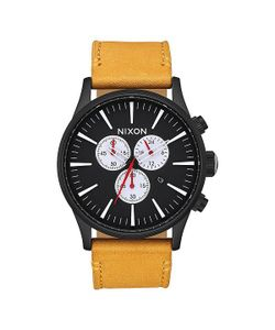Nixon | Кварцевые Часы Sentry Chrono Leather Enrod