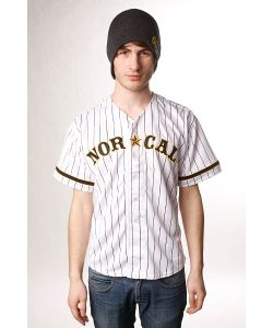 Nor Cal | Рубашка Wild Pitch Baseball Jersey White/Black