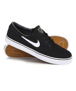 Nike | Кеды Кроссовки Zoom Stefan Janoski Cnvs Black/White Gym/Light Brown Mtlc Gl