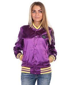 K1X | Бомбер Женский Satin Varsity Jacket Purple/Yellow