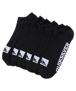 Quiksilver | Носки Низкие 3pk Bold Logo Black