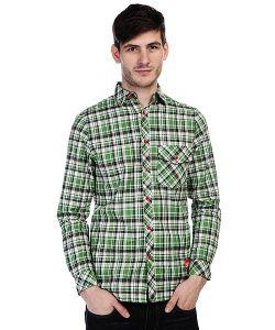 Skills   Рубашка В Клетку Check Shirt Green