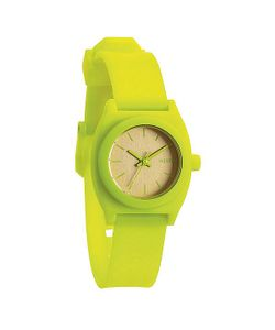 Nixon | Часы Женские Small Time Teller P Neon Yellow/Beetlepoint