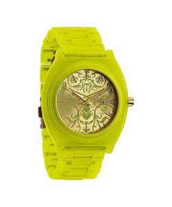 Nixon | Часы Женские Time Teller Acetate Neon Yellow/Beetlepoint