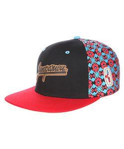 Запорожец | Бейсболка 3 Logo Снеп Black/Red