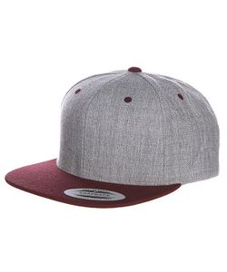 Yupoong | Бейсболка Classic Snapback 2-Tone Heather Grey/Maroon