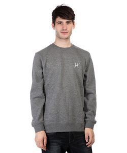 Huf | Толстовка Small Script Crew Gunmetal Heather