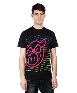 Pig | Футболка Neon Stripe Black