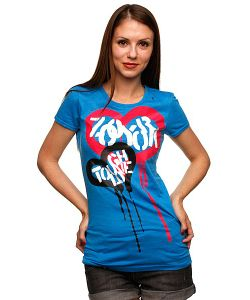 Zoo York | Футболка Женская Tough Love Tee Blue Heather
