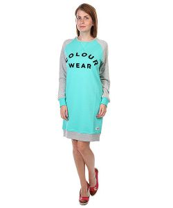 Clwr | Платье Женское Crew Dress Florida Green Melange