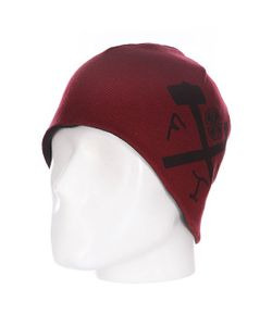 Independent | Шапка Двусторонняя Ftr Reversible Skull Black/Oxblood