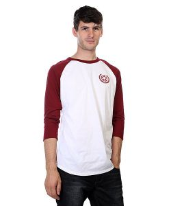 Proto Scooters | Лонгслив Baller 3/4 Sleeve Burgandy On White