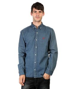 Huf | Рубашка Script Overshirt Denim