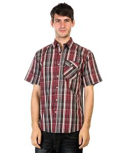 Huf | Рубашка Fitzgerald Gingham L/S Button Up Burgundy/Grey