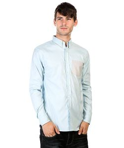 Huf | Рубашка Rushmore Oxford Long Sleeve Shirt Blue