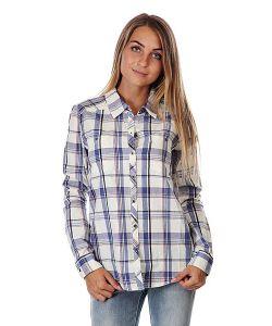 Roxy   Рубашка В Клетку Женская Sneaky Peaks Dotty Plaid Sea