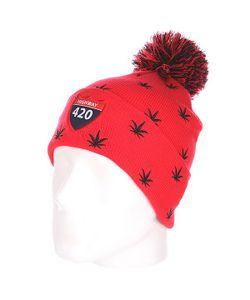 Truespin | Шапка С Помпоном Weedy Pom Beanie Red/Black