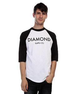 Diamond | Лонгслив Classic Raglan White/Black