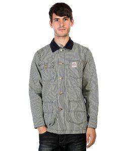 Huf | Куртка Rail Coat Navy Fine Stripe