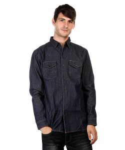 Huf | Рубашка Marfa Denim Shirt Indigo