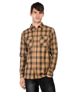 Huf | Рубашка Fullerton Shadow Plaid Tobacco