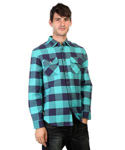 Huf | Рубашка В Клетку Thompson Buffalo Flannel Navy/Jade